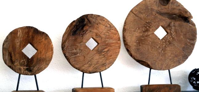 Teak Holz Dekoration